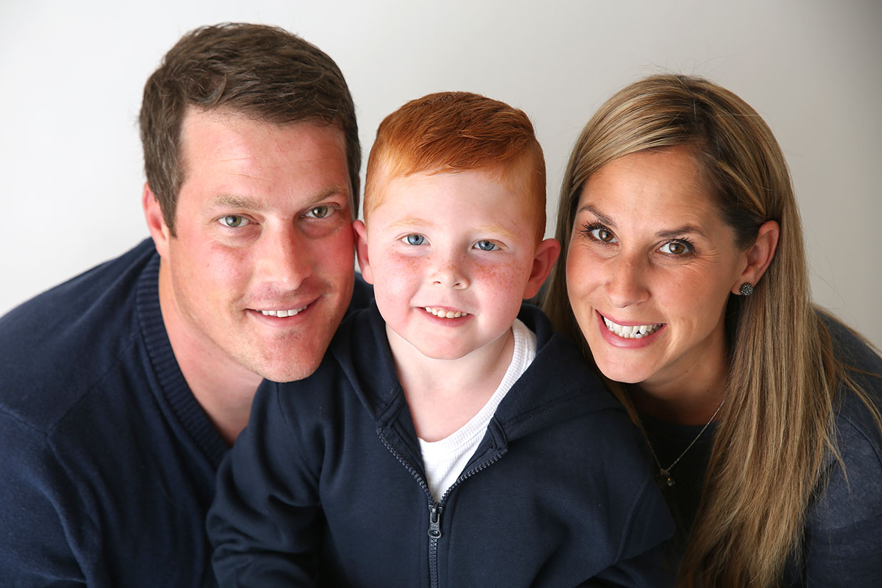 Ryland avec ses parents