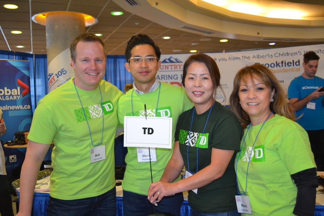 L'équipe de TD au Radiothon
