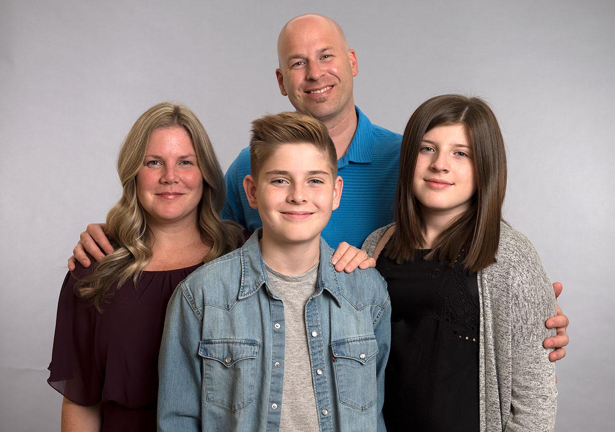 Portrait de Hudson et de sa famille