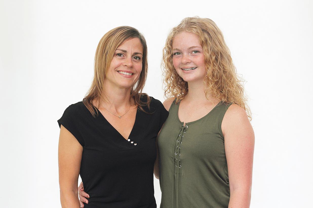 Portrait de Natalie et de sa mère