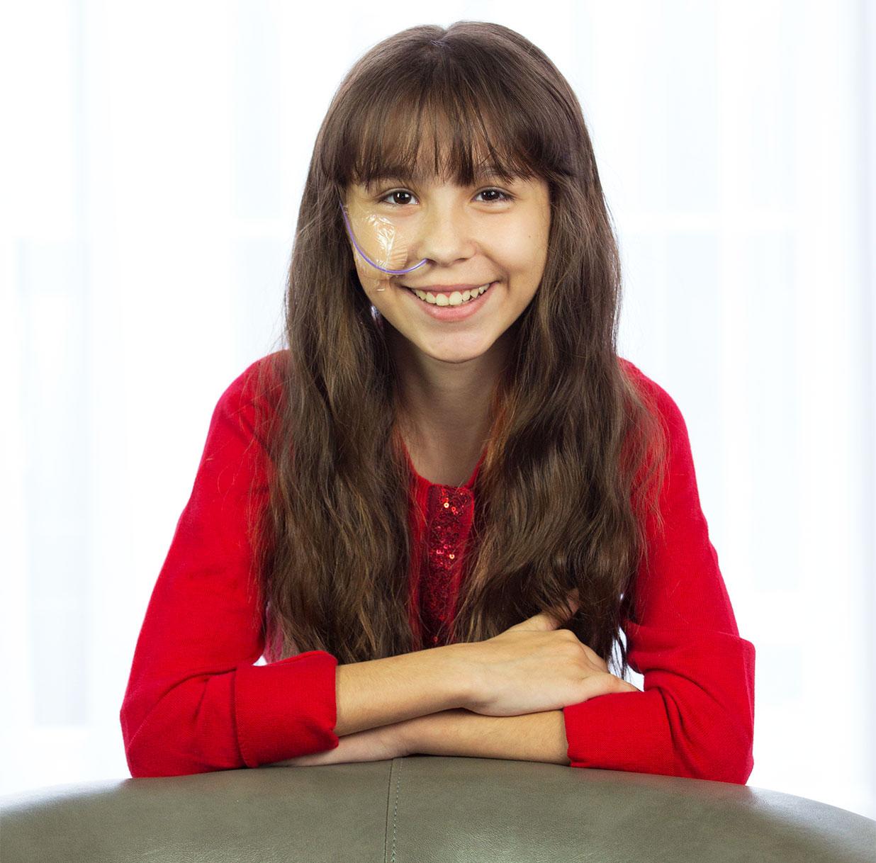 Sammi-Jo qui sourit