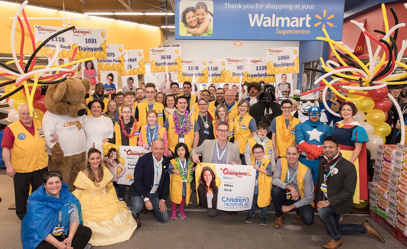 Célébration de Walmart avec le CHEO