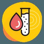 Icône - Gouttelette de sang et éprouvette