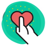 Icône - Cœur en main