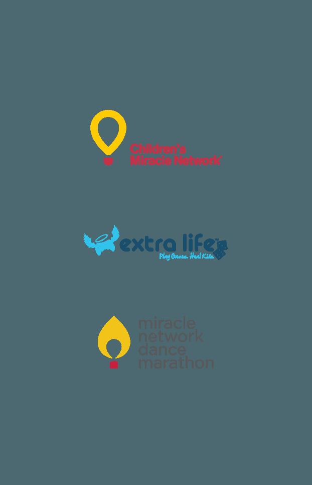 Logos des programmes - CMN - Extra Life - Dance Manarathon