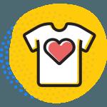 Icône -T-shirt avec cœur