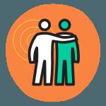 Icône -Deux personnes