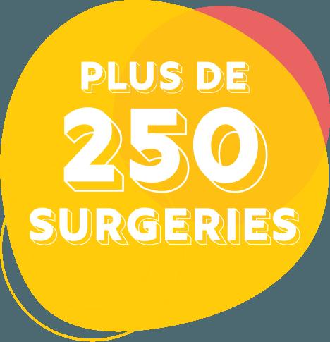 Plus de 250 interventions chirurgicales sont pratiquées sur des enfants