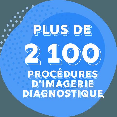 Plus de 2100 procédures d'imagerie diagnostique sont effectuées, en moyenne