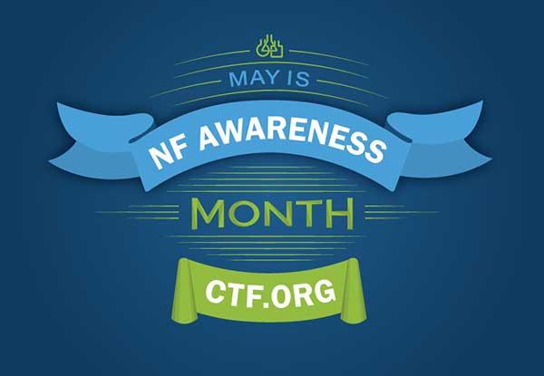 Banner of Neurofibromatosis Awareness Month